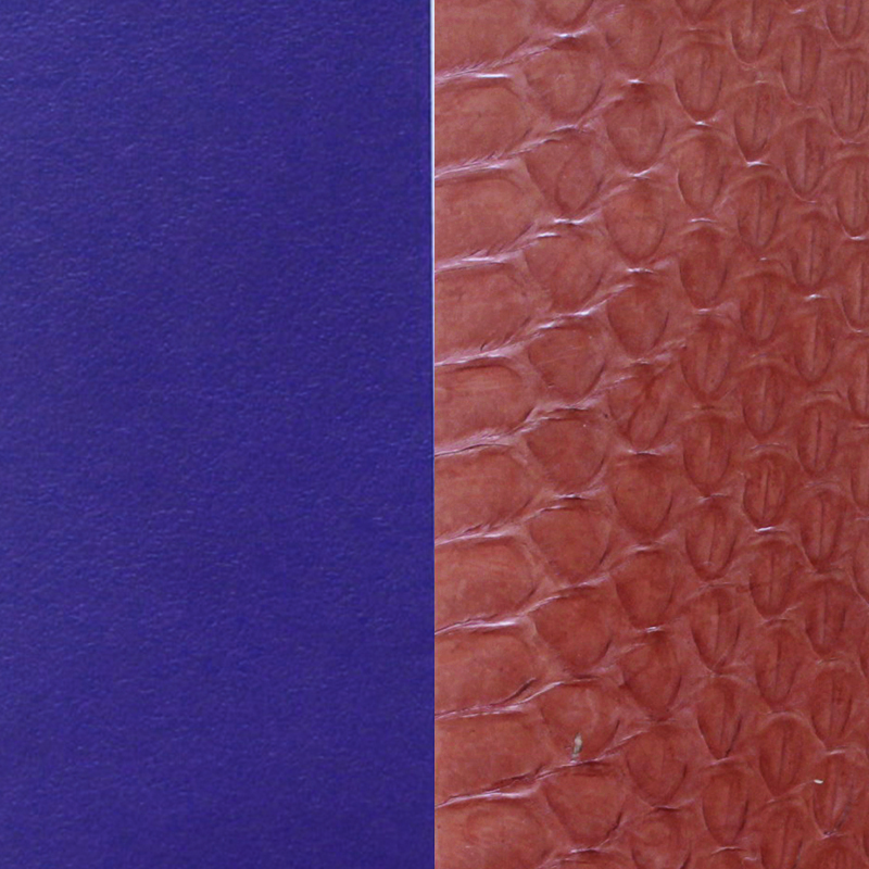 Cuir pour manchette 14 mm Les Georgettes Bleu Serpent d'eau terracotta/Violet 702145899BC000