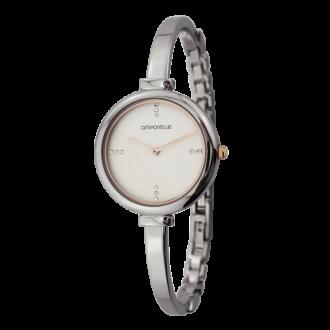 Montre Femme Amporelle bracelet rigide argenté P100775-B2