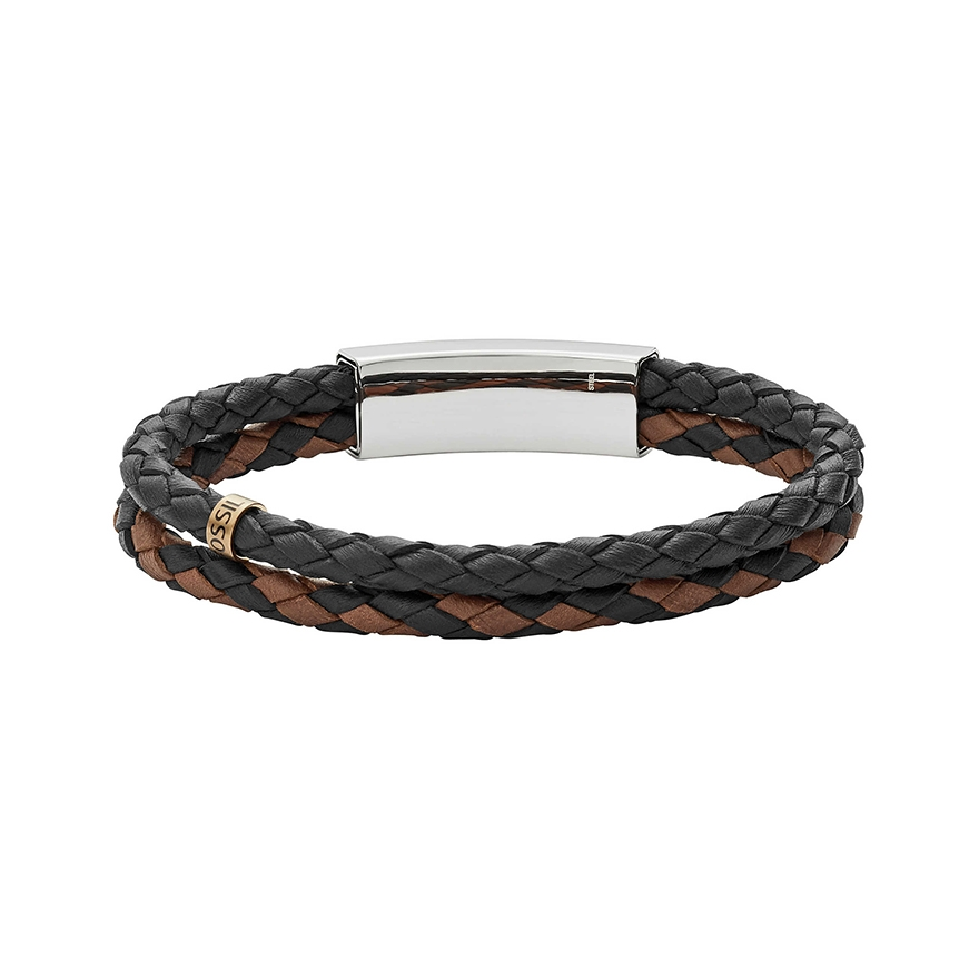 bracelet homme fossil vintage casual marron et noir jf02758998 pour homme. Black Bedroom Furniture Sets. Home Design Ideas
