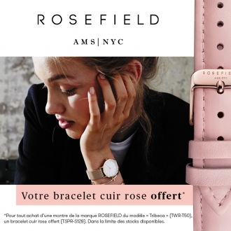 Montre Rosefield Femme acier plaqué or rose TWR-T50