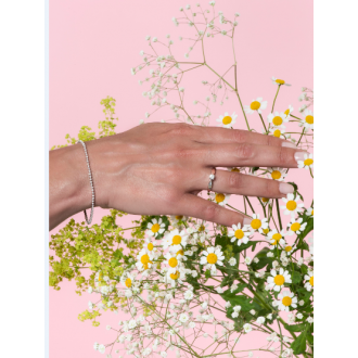 Bracelet Carador Or blanc 375/000 et diamant