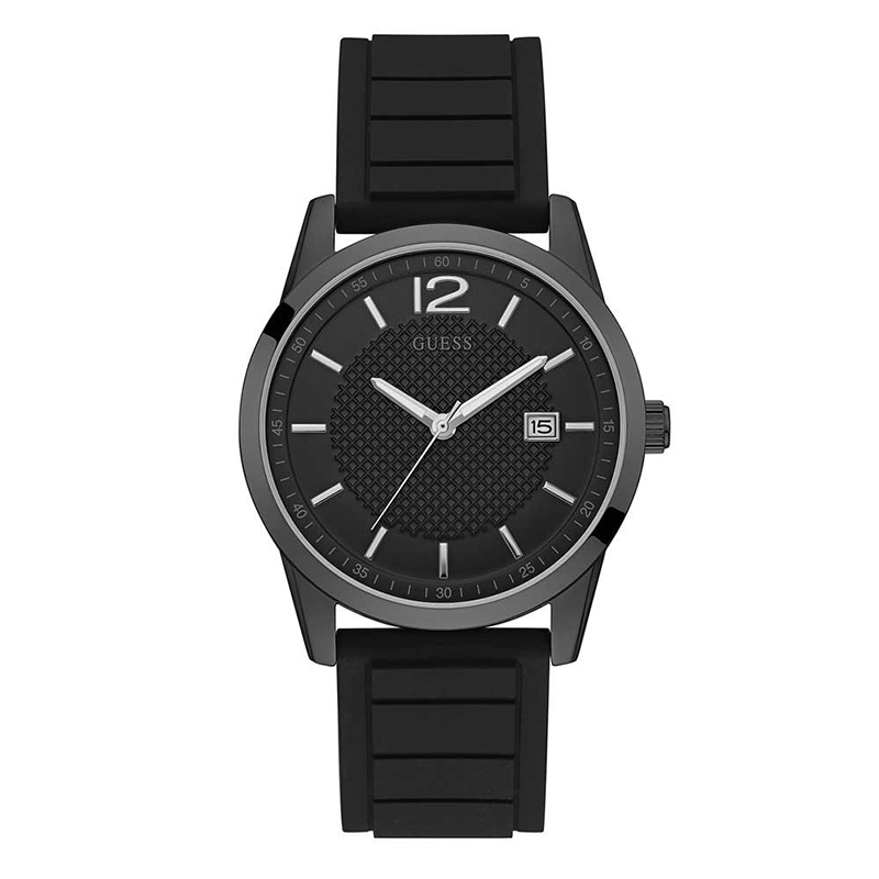 Montre Homme Guess Perry silicone noir W0991G3