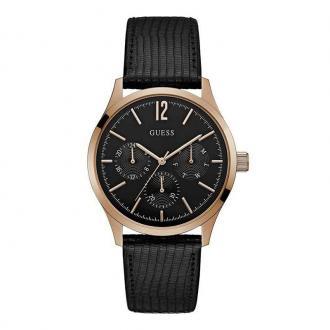Montre Homme Guess Regent cuir noir W1041G3