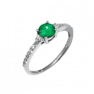 Bague Carador Argent 925/000e et pierre verte