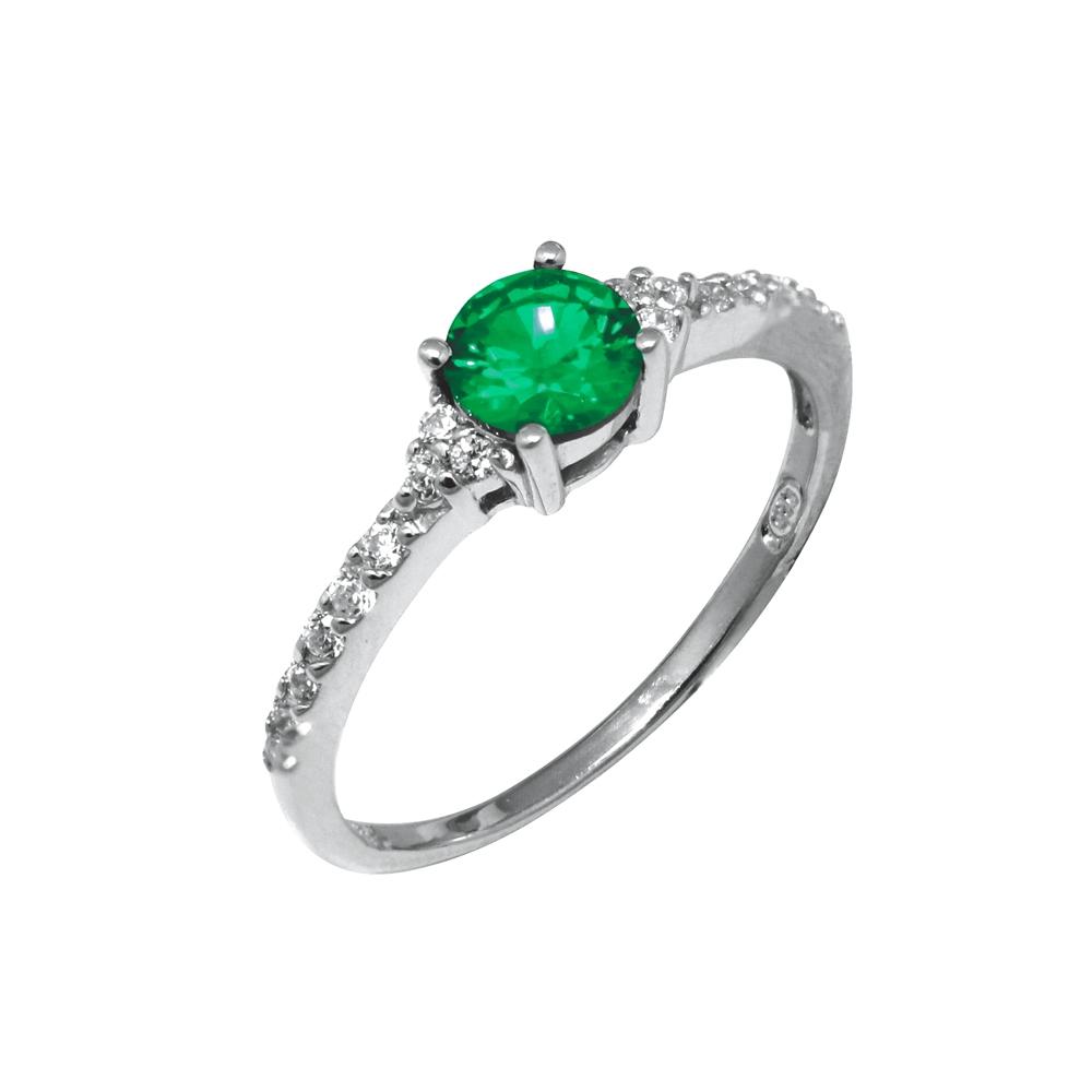 bague solitaire pierre verte