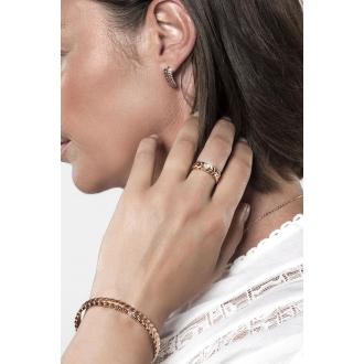 Boucles d'oreilles Amporelle motif plume en acier argenté G-EST1470_IPG