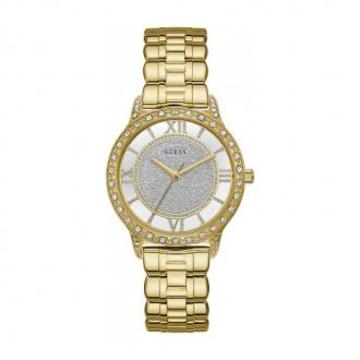 Montre Femme Guess acier doré et cristaux W1013L2