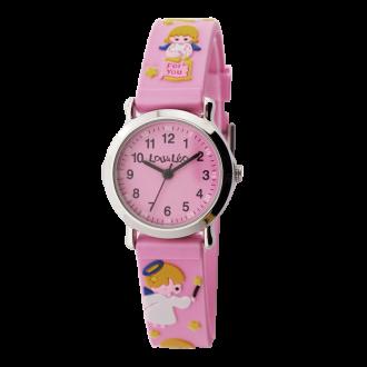 Montre enfant Lou&Léo ange plastique rose P100210-B5