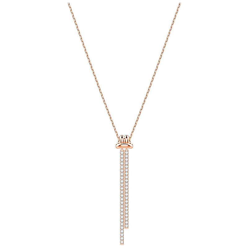 marques reconnues économiser magasin discount Collier Swarovski pendentif en Y Lifelong doré rose 5390817