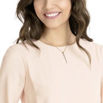 Collier Swarovski pendentif en Y Lifelong doré rose 5390817