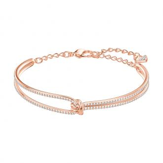 Bracelet jonc Swarovski Lifelong doré rose 5390818