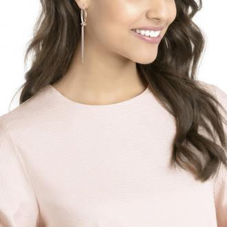 Boucles d'oreilles Créoles Swarovski Lifelong métal doré rose 5390820