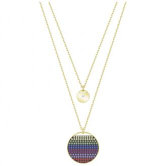 Collier Swarovski Ginger multicolore doré 5397843