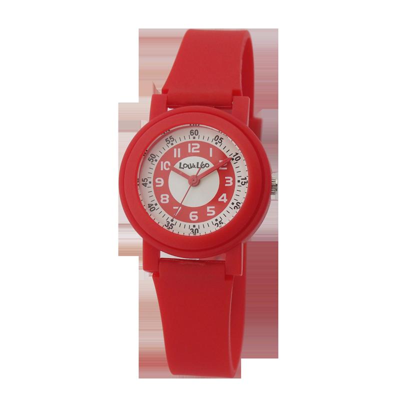 Montre enfant Lou&Léo plastique rouge P100648 B3