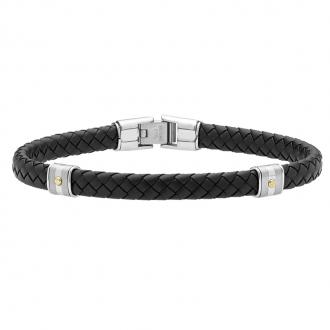 Bracelet Homme Jourdan Bijoux HUDSON noir FZ 140 NOH