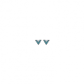 Boucles d'oreilles Carador triangle argent 925/000 et turquoise