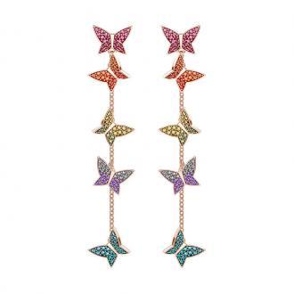 Boucles d'oreilles Femme Swarovski Lilia plaqué or rose 5378693