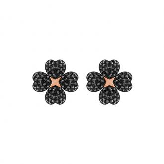 Boucles d'oreilles Femme Swarovski Latisha noires 5389161