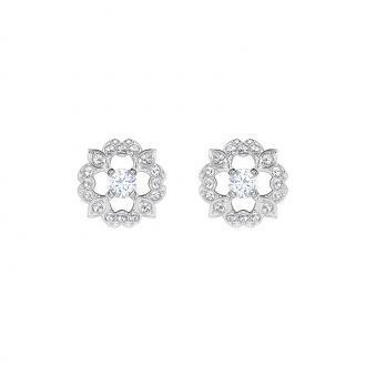 Boucles d'oreilles Femme Swarovski Sparkling Dance Flower argentées 5396227