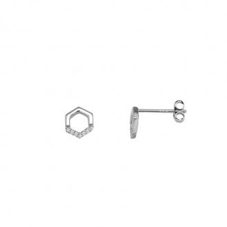 Boucles d'oreilles Femme Silver Pop hexagone argent 925/000 ER9819L
