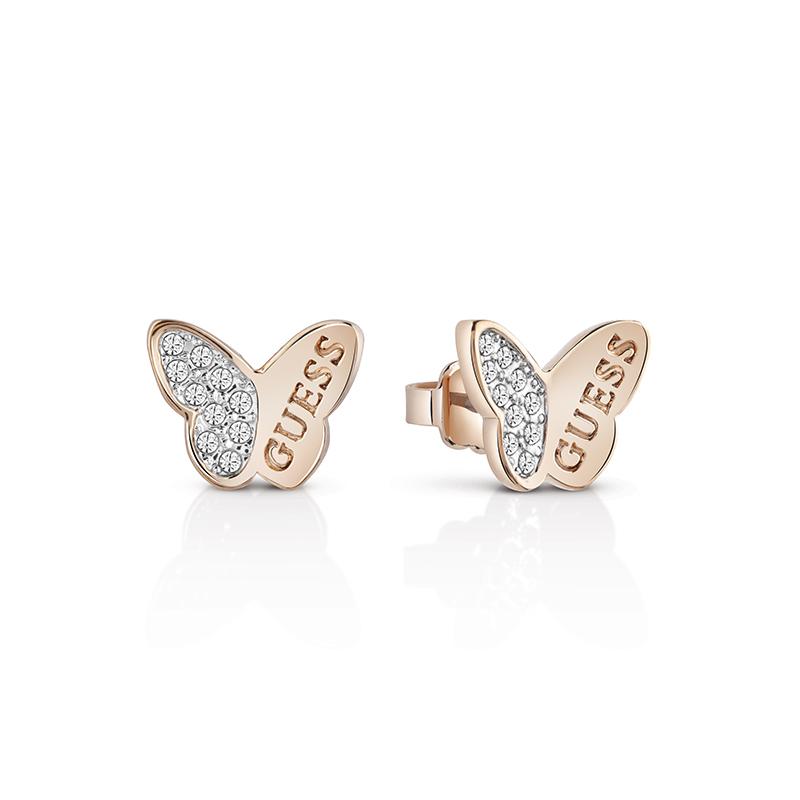 Boucles d oreilles Femme Guess Mariposa dorées rose UBE83022 pour FEMME 086a9d27b535