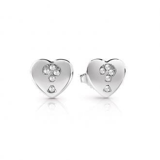 Boucles d'oreilles Guess Million Hearts argentées UBE85069