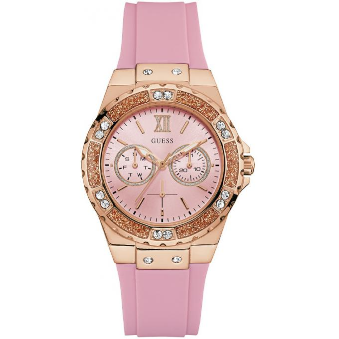 Montre femme Guess Limelight silicone rose W1053L3
