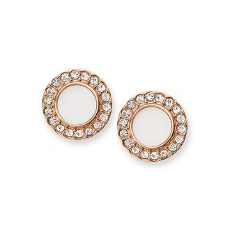 Boucles d'oreilles Femme Fossil Glitz dorées rose JF02659791