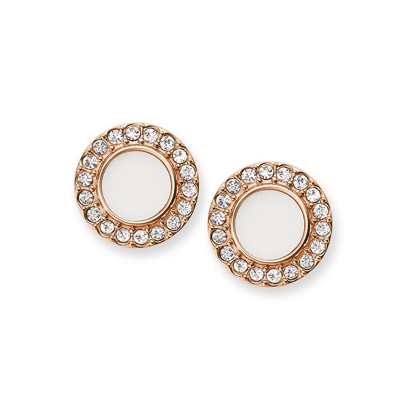 amazon correspondant en couleur Promotion de ventes Boucles d'oreilles Femme Fossil Glitz dorées rose JF02659791