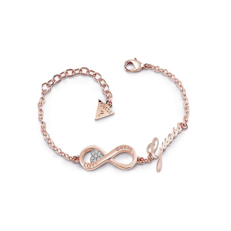 Bracelet Femme Guess Endless Love doré rose UBB85066-S