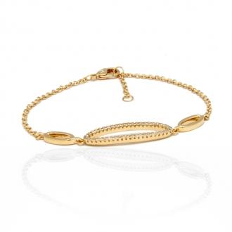 Bracelet Carador plaqué or multi anneaux 32EU0390CZ