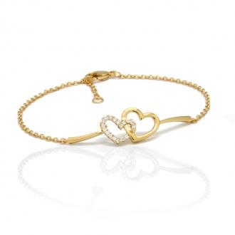Bracelet Carador plaqué or Coeur 32EU0790CZ