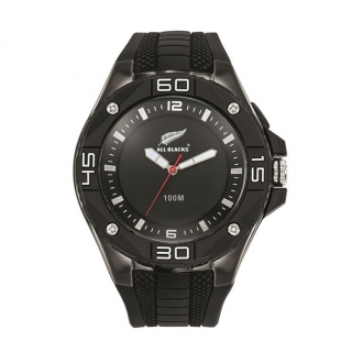 Montre Homme All Blacks silicone noire 680377