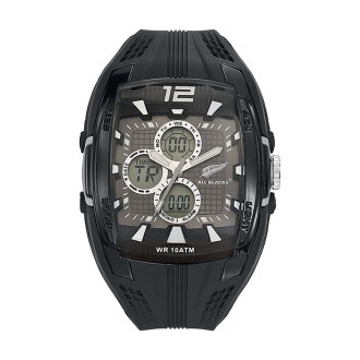 Montre Homme All Blacks silicone noir 680055