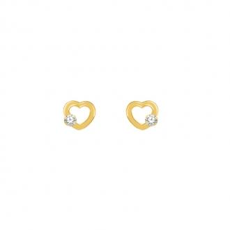 Boucles d'oreilles Carador Or jaune 375/000e et zircons