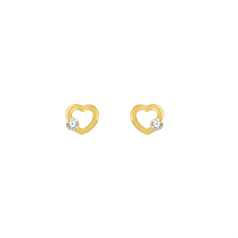 Boucles d'oreilles Carador Or jaune 375/000e et zircons 124360A27