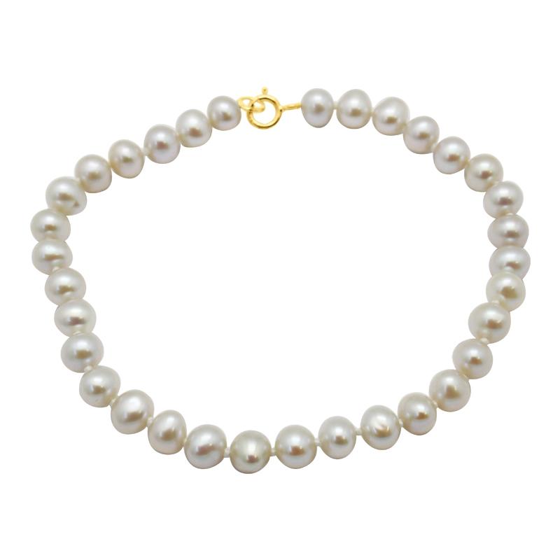 Bracelet Carador – perles synthétiques et or jaune