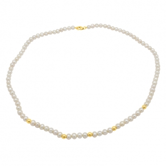 Collier Carador – perles synthétiques et or jaune