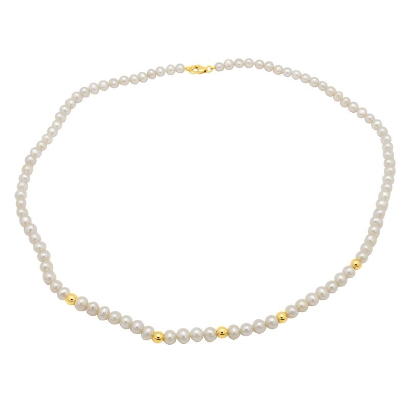 Collier Carador – perles synthétiques et or jaune