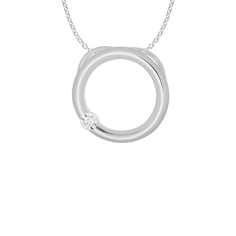 Collier Carador Diamants et Or Blanc 375/000e