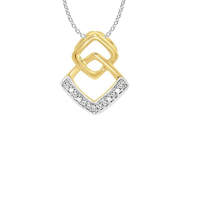Collier Carador Diamants et Ors bicolore 375/000e