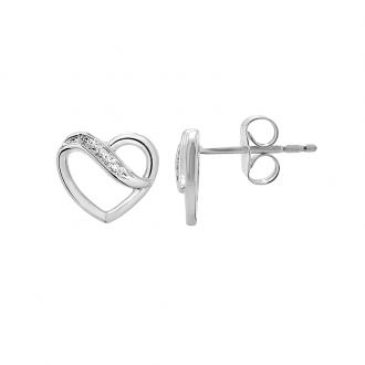 Boucles d'oreilles Carador 9E005622TT diamant et Or Blanc