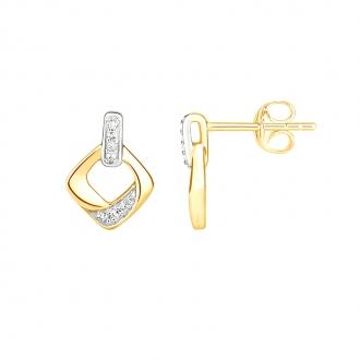 Boucles d'oreilles Carador 9E006691TT diamant Or bicolore