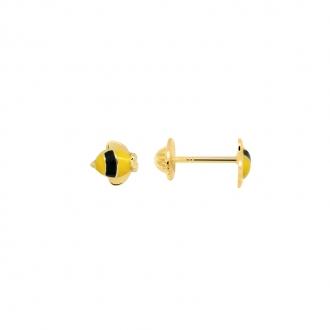 Boucles d'oreilles Carador Or jaune Abeille