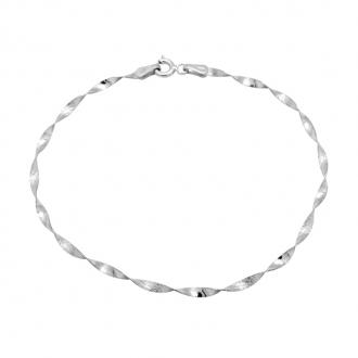 Bracelet Carador maille Torsade Or Blanc 9 carats