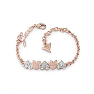 Bracelet Femme Guess Heart bouquet doré rose UBB85102-S