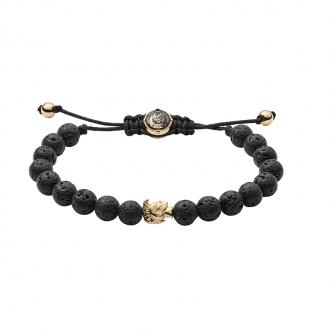Bracelet Diesel Perles noires de lave DX1069710