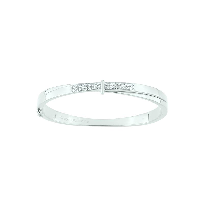 Bracelet jonc femme Guy Laroche argent 925/000 et oxydes de zirconium ATV757AZ