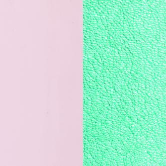 Cuir pour bracelet 40 mm Les Georgettes Nude vernis/Turquoise métallisé 702145799C5000