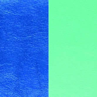 Cuir pour bracelet Les Georgettes largeur 40 mm Bleu Sirène/Vert d'eau 702145799C6000